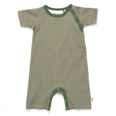 Комбинезон с короткими рукавами и штанинами (песочник) для мальчиков Albababy. Gabby Playsuit Short Grey Striped (16151321)