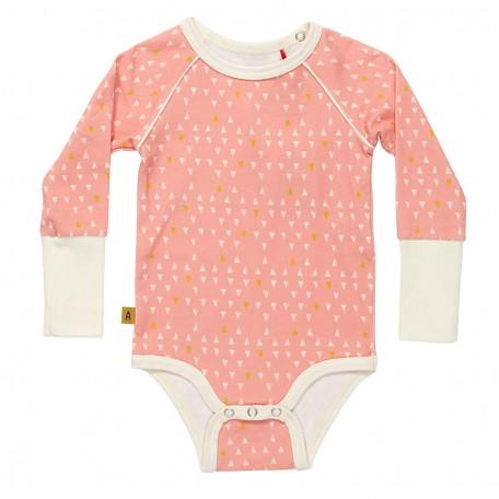 Боди для девочек Грег розовое (Greg Body Rose Triangles 16194) Albababy