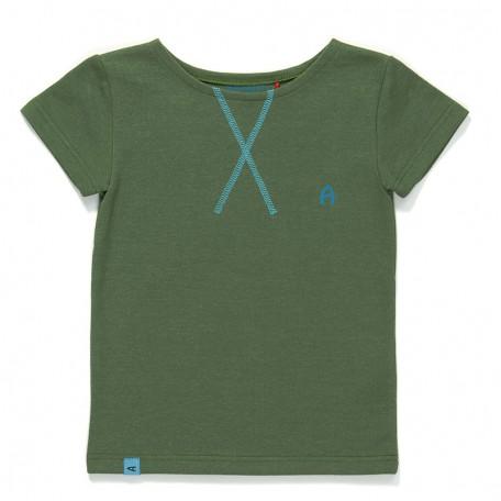 Футболка для мальчиков Гейт зеленая (Gate T-shirt Green 1617243) Albababy