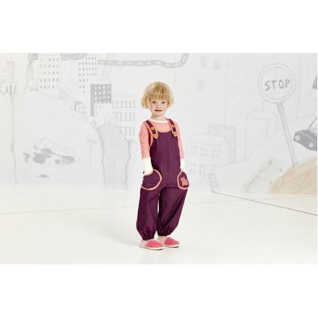 Комбинезон летний для девочек Джи фиолетовый (Gy Baggy Crawlers Purple 1616003) Albababy