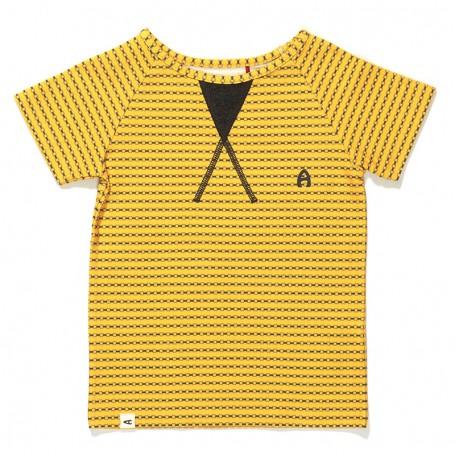 Футболка для мальчиков Гейт желтая в полоску (Gate T-shirt Yellow Striped 1617245) Albababy