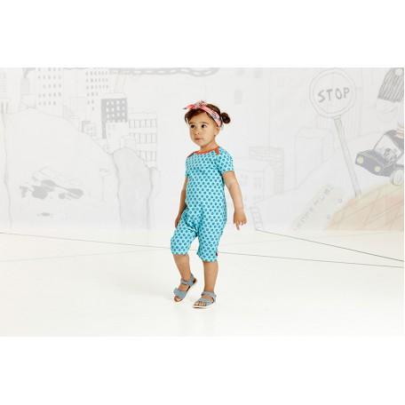 Комбинезон с короткими рукавами и штанинами (песочник)для девочек Gabby Playsuit Short Blue Flower Albababy