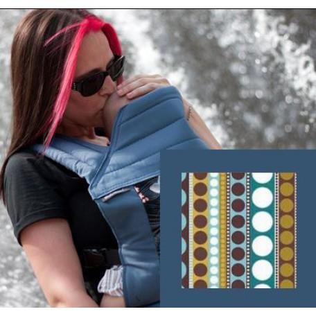 Май-слинг  BabyHawk  toddler (Бейбихок) бирзовые полоски с точками/ синий металлик