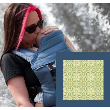 Май-слинг  BabyHawk  toddler (Бейбихок) зеленая плитка/ синий металлик
