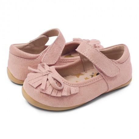 Замшевые туфли для девочек Уиллоу розовые(размер 20-25) Livie and Luca