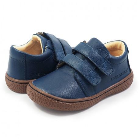 Детские кожаные ботинки Хаес синие (размер 20-25) Livie and Luca