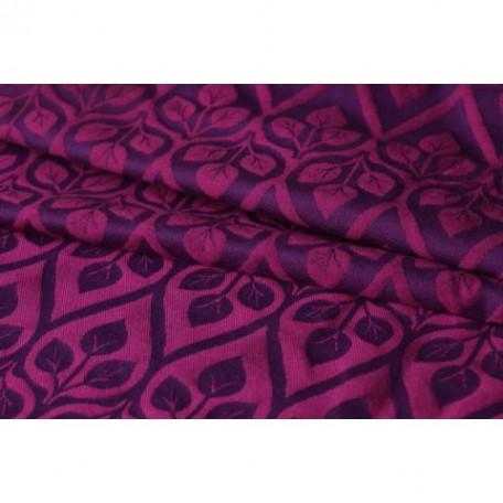 Слинг-шарф Yaro La Vita Purple-Pink Wool (Листья фиолетовый с шерстью) размер 6 (4.6 метра)
