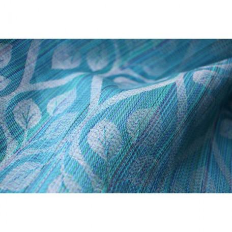 Слинг-шарф Yaro La Vita Aqua Random Linen(Яро Листья голубой со льном) размер 6 (4.6 метра)