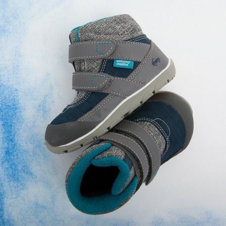 Ботинки для мальчиков зимние Atlas II Navy (Атлас II синие) SeeKaiRun
