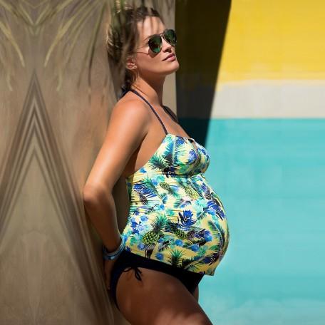 Купальник для беременных Cache Coeur Aloha желтый