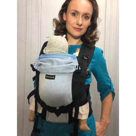Эрго-рюкзак Caramel Голубые полосы 0+