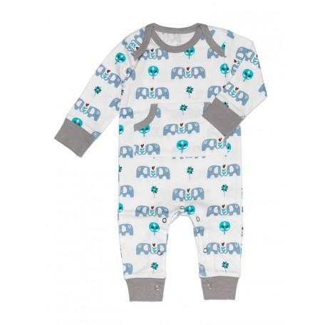 Пижама детская Fresk Слон голубо-коричневая FP 238 купить