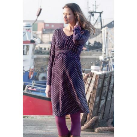 Базовое платье для беременных (B4594) Jojo цвет синий в горошек