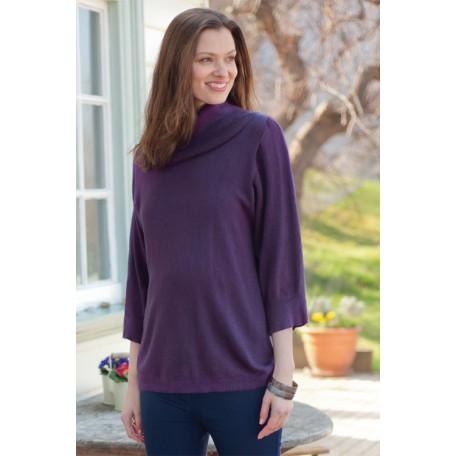 Туника с горлом для беременных (B4581) Jojo цвет фиолетовый