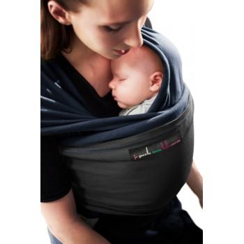 Трикотажный слинг для новорожденных JPMBB Тёмно-синий/чёрный