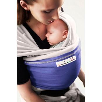 Трикотажный слинг для новорожденных JPMBB Лён/ирис