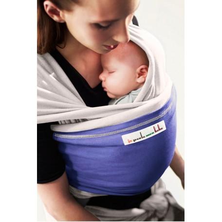 Слинг-шарф трикотажный JPMBB Лён/ирис для новорожденных