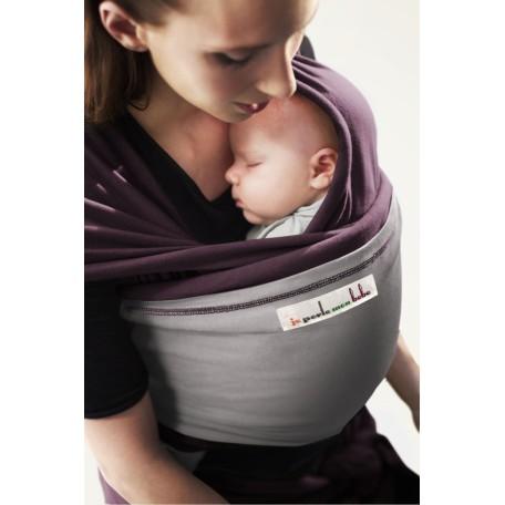 Слинг-шарф трикотажный JPMBB Слива/светло-серый для новорожденных