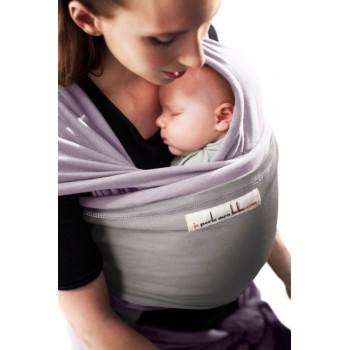 Трикотажный слинг для новорожденных JPMBB Лаванда/светло-серый