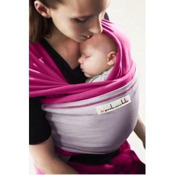 Трикотажный слинг для новорожденных JPMBB Фуксия/лаванда