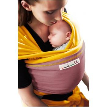 Трикотажный слинг для новорожденных JPMBB Манго/палисандр