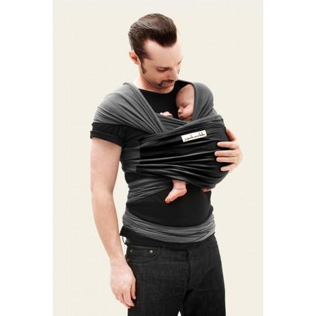 Трикотажный cлинг-шарф  JPMBB Графит/чёрный для новорожденных