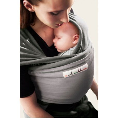 Слинг-шарф трикотажный JPMBB Слон/светло-серый для новорожденных