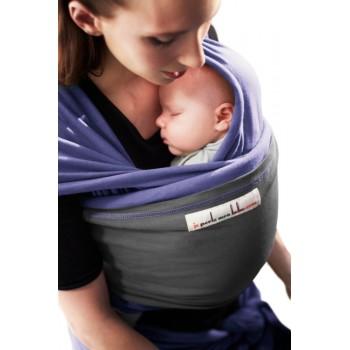 Трикотажный слинг для новорожденных JPMBB Ирис/графит