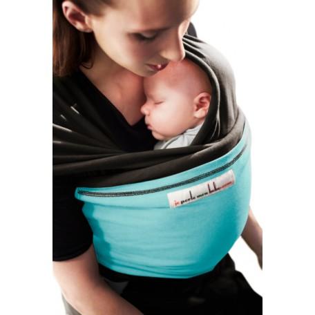 Слинг-шарф трикотажный JPMBB Темно-коричневый/тюркис для новорожденных