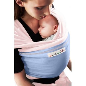 Трикотажный слинг для новорожденных JPMBB Балерина/голубой