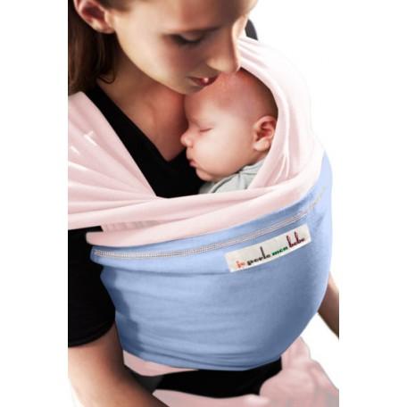 Слинг-шарф трикотажный JPMBB Балерина/голубой для новорожденных
