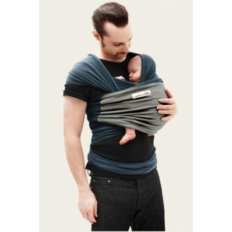 Слинг-шарф трикотажный JPMBB Синий/слон для новорожденных