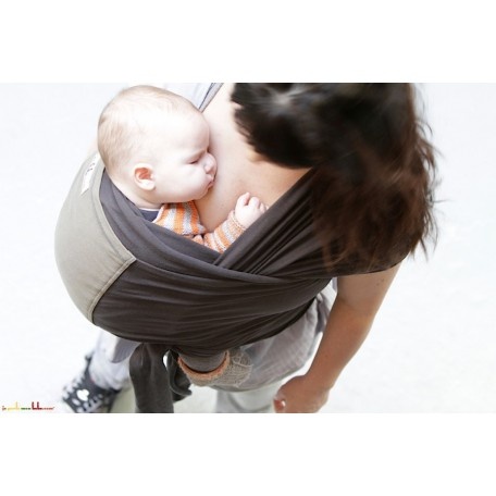 Слинг-шарф трикотажный JPMBB Графит/олива для новорожденных