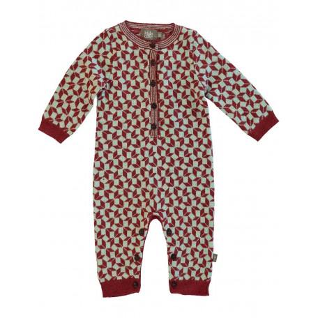 Комбинезон трикотажный детский красный 8034 red aqua (Ли) Kidscase