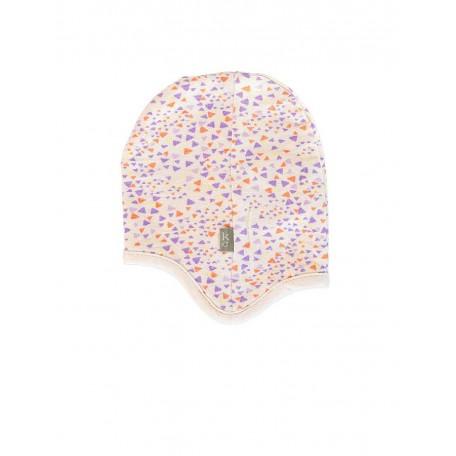 Шапочка с ушками для новорожденной девочки розовая 8010 light pink (Фэнни) Kidscase