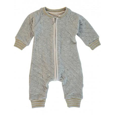 Комбинезон для новорожденного стеганый серый Vito 8015 grey (Вито) Kidscase