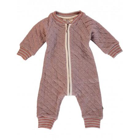 Комбинезон для новорожденного стеганый розовый 8015 mauve (Вито) Kidscase
