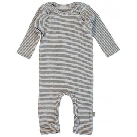 Цельный комбинезон для мальчиков и девочек с открытыми ножками серый 8001 light grey (Нэн) Kidscase
