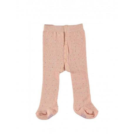 Колготки детские для девочек в горошек розовые Organic 8019 light pink Kidscase
