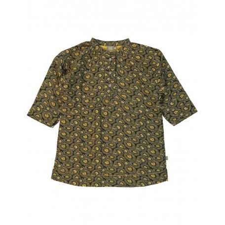 Платье с коротким рукавом серая/охра 8145 Фло Kidscase