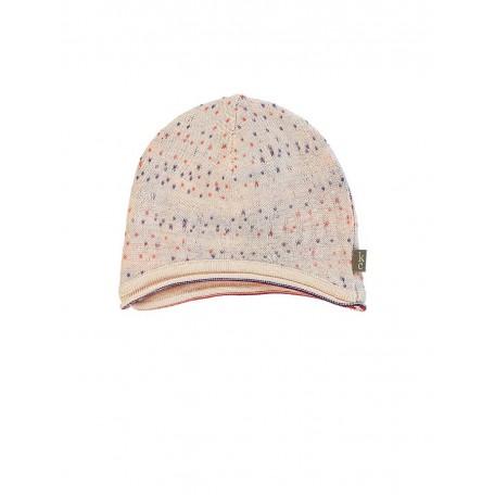Шапочка в разноцветный горошек для новорожденной девочки розовая 8024 light pink (Чарли) Kidscase