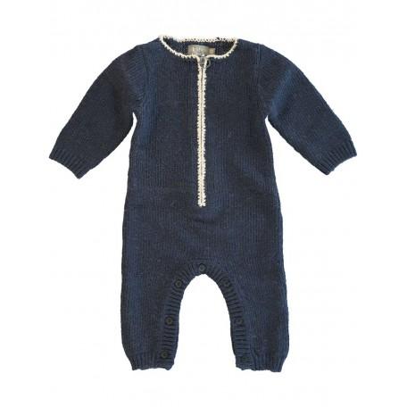 Комбинезон вязаный детский темно-синий для мальчиков 8027 dark blue (Даг) Kidscase