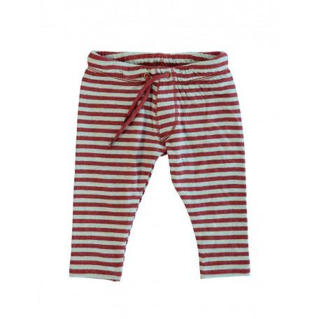 Штанишки детские в полоску цвет красный/аквамарин 8049 Шон Kidscase