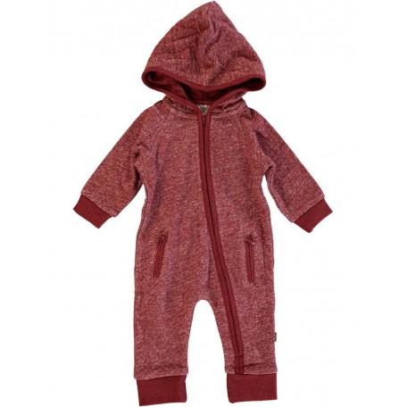 Комбинезон с длинным рукавом и капюшоном детский красный 8068 Уокер Kidscase