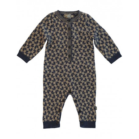 Комбинезон трикотажный детский темно-синий 8034 dark blue grey (Ли) Kidscase