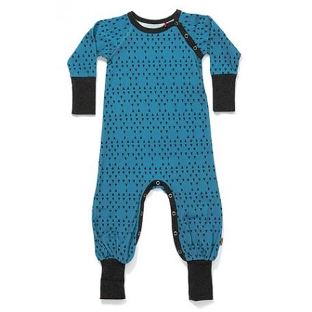 Комбинезон для мальчиков для сна синий с треугольничками (Gedigby Playsuit Blue Triangle (1614612) Albababy