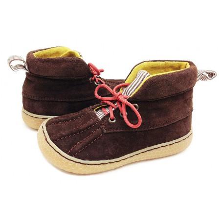 Детские кожаные ботинки Гордон коричневые замшевые (размер 20-30) Livie and Luca