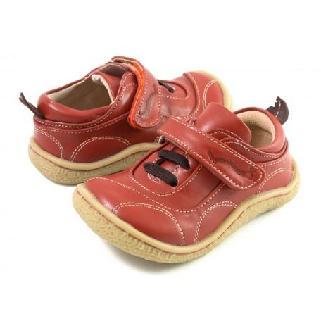 Детские кожаные ботинки Скаттлз жжёный апельсин (размер 20-25) Livie and Luca