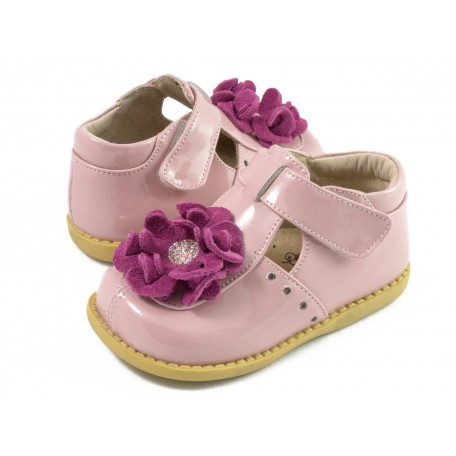 Детские кожаные туфли Блоссом розовые (размер 20-25) Livie and Luca