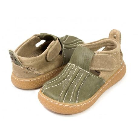 Детские кожаные туфли Маллард зеленые (размер 20-25) Livie and Luca